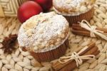 Thumbnail Christmas muffins with cinnamon sticks, anise cookies and Christmas tree balls