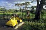 Thumbnail safari camp with acacias in East Africa