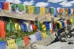 Thumbnail buddhist prayer flags, Ladakh, Jammu and Kashmir, India