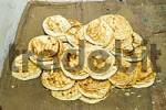 Thumbnail fresh chapati bread, Ladakh, Jammu and Kashmir, India