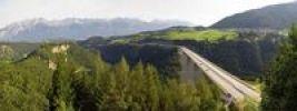Thumbnail Panoramic view of the Europabruecke Bridge on the Brenner motorway, Tyrol, Austria, Europe