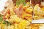 Thumbnail Scrambled eggs and cooked ham