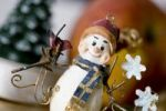 Thumbnail Festive decoration with a figure of a snowman