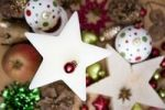 Thumbnail Festive decoration with wooden stars and Christmas tree decoration