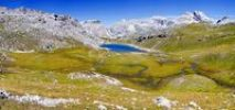Thumbnail Lake Ciampai on the Crespeina plateau in the Puez Geisler National Park, Slva, Selva, Val Gardena, Gardena Valley, Groednertal, South Tyrol, Italy, Europe