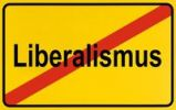 Thumbnail City limits sign, symbolic picture for the end of liberalism
