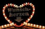 Thumbnail Heart-shaped sign, Wunschherzen, desired hearts written on it