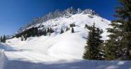 Thumbnail Cross-country skiing trail on Hochkoenig Mountain, winter landscape in the Alps, Berchtesgaden Alps, Salzburg, Salzburg, Austria, Europe