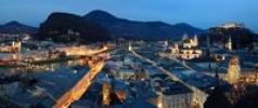 Thumbnail Panorama, historic town centre of Salzburg at night, Austria, Europe