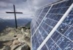 Thumbnail Solar panel and summit cross on the top of Bettmeralp, Valais Canton, Switzerland, Europe
