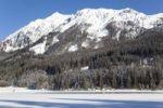Thumbnail Winter landscape, Lake Jaegersee, Klein Arl, Pongau, Salzburg, Austria, Europe