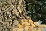 Thumbnail Sunflower seeds, Pumpkin seeds and Pine nuts Helianthus annuus, Cucurbita maxima, Pinus pinea