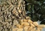 Thumbnail Sunflower seeds, Pumpkin seeds and Pine nuts Helianthus annuus, Cucurbita maxima, Pinus pinea