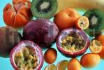 Thumbnail Tropical fruits: Chinese Gooseberry, Kumquat, Banana, Passions Fruit and Clementine