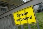 Thumbnail No parking, sign in front of a house entrance