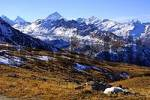 Thumbnail Autumn in Val dAnniviers view at Matterhorn, Dent Blance Valais Switzerland