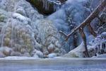 Thumbnail Frozen waterfall in the Black Forest near Falkau, Baden-Wuerttemberg, Germany, Europe