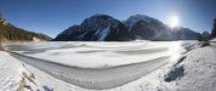 Thumbnail Frozen Lake Plansee, Tyrol, Austria, Europe