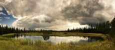 Thumbnail Hohlohsee Lake in summer, short before a storm, bog in the north of Black Forest, Baden-Wuerttemberg, Germany, Europe