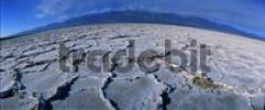 Thumbnail Salt crust on salt lake, Bad Water, Death Valley, California, USA