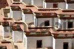 Thumbnail Detail angled construction of Kumbum Pelkor Chöde Monastery Gyantse Tibet China
