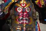 Thumbnail Monk wears fearful dress of a demon at festival in Rongbuk Monastery Tibet China