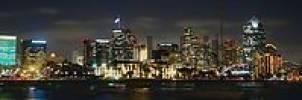 Thumbnail Skyline of downtown San Diego at night, California, USA