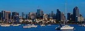 Thumbnail Ships in front of skyline of downtown San Diego, California, USA