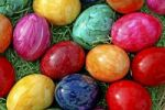Thumbnail Colourful Easter eggs, grass, Easter