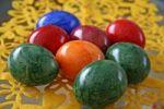 Thumbnail Colourful Easter eggs, felt decoration, Easter
