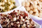 Thumbnail Chick pea, mung bean and azuki bean sprouts