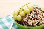 Thumbnail Chocolate muesli and grapes in a bowl