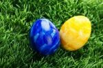 Thumbnail Easter eggs on a lawn