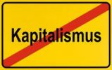 Thumbnail Sign, end of village, symbolic picture for end of capitalism