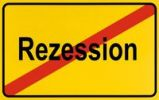 Thumbnail Sign, end of village, symbolic picture for end of recession
