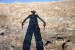 Thumbnail Gunfighter as shadow, Atacama Desert, Chile, South America
