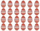 Thumbnail Easter eggs in a row, pattern, graphic
