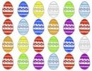 Thumbnail Colourful easter eggs in a row, pattern, graphic