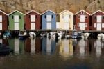 Thumbnail Coloured wooden houses, Smoegen, Bohuslaaen, Sweden