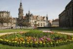 Thumbnail Theatre square with Residenzschloss castle and Altstaeder Wache guard house, Dresden, Saxony, Germany