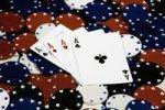 Thumbnail Playing cards, 4 aces, poker chips