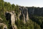 Thumbnail The Bastei sandstone formation, Elbe Sandstone Mountains, Saechsische Schweiz, Saxon Switzerland, Saxony, Germany