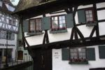 Thumbnail Detailed view of the Schiefes Hotel, crooked hotel, in the Fischerviertel district, Ulm an der Donau, Upper Swabia, Baden-Wuerttemberg, Germany, Europe
