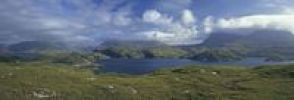 Thumbnail View over Loch Glendhu and Glencoul, Kylestrome, Scotland, United Kingdom, Europe