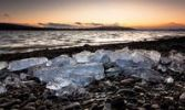Thumbnail The last ice of the winter at Lake Constance with a view of Reichenau Island, Baden-Wuerttemberg, Germany