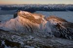 Thumbnail Matterhorn mountain with Bernese Alps in Winter, Pilatus mountain range, Lucerne, Switzerland