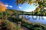 Thumbnail River Weser in autumn, Lower Saxony, Germany /