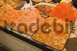 Thumbnail fresh salads at the market at Osch Bazar, Bishkek, Kyrgyzstan