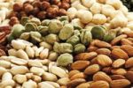Thumbnail Mixed nuts, full format, peanuts, salted pistachios, hazelnuts, macadamia nuts, almonds