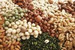 Thumbnail Mixed nuts, full format, pistachios, almonds, walnuts, macadamia nuts, hazelnuts, peanuts, brazil nuts
